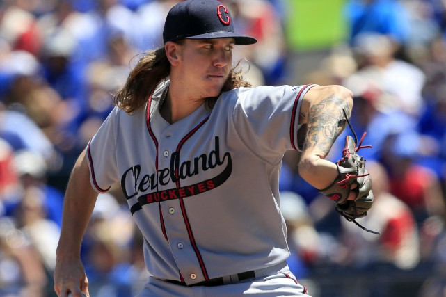 Le lanceur partant Mike Clevinger.... (Photo Orlin Wagner, AP)