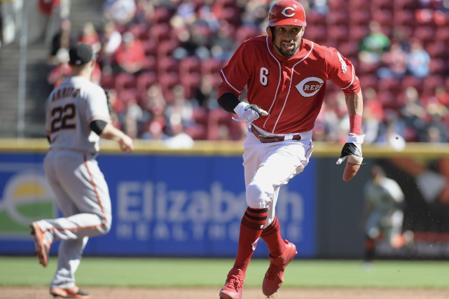 Billy Hamilton... (photo Michael E. Keating, AP)