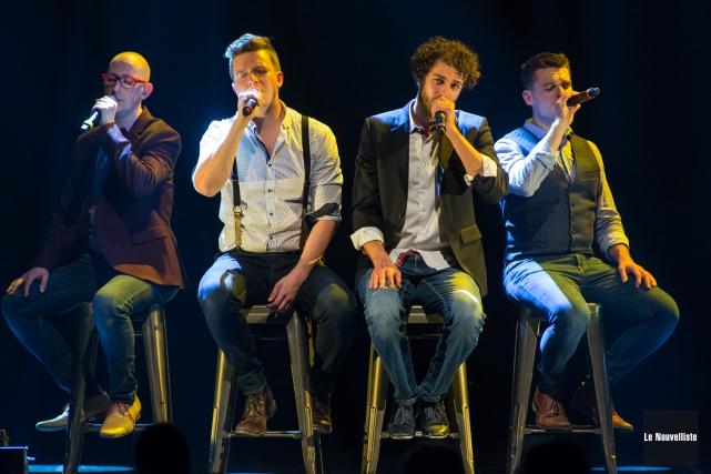 Le quatuor vocal trifluvien Qw4rtz.... (Olivier Croteau, Le Nouvelliste)