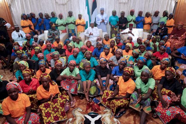 Les 82 jeunes filles ont été reçues à... (PHOTO AFP)