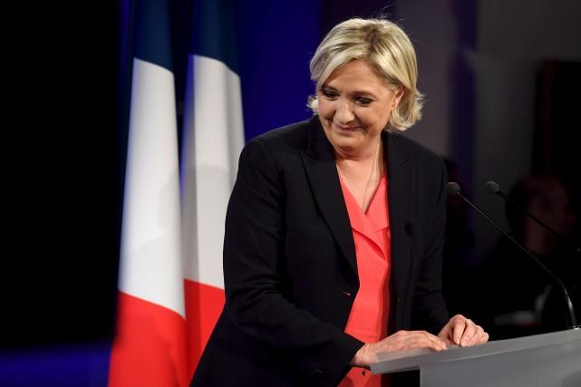 La cheffe de file de l'extrême droite française... (PHOTO ARCHIVES AFP)