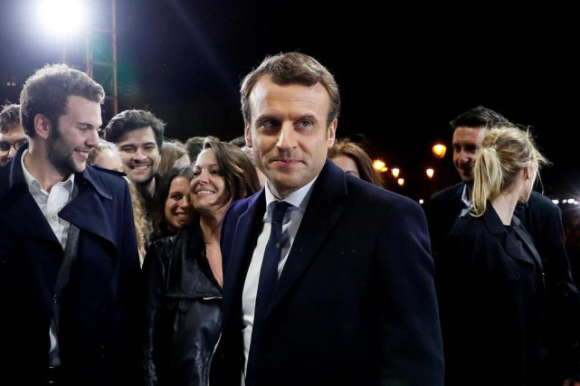 Emmanuel Macron a remporté une victoire incontestable contre... (PHOTO REUTERS)