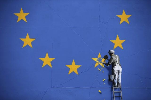 L'artiste de rue Banksy a frappé à Douvres,... (AFP, Daniel Leal-Olivas)