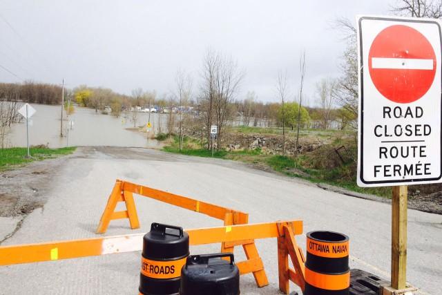 Une partie du chemin Trim est fermée, lundi... (Daniel Leblanc, Le Droit)