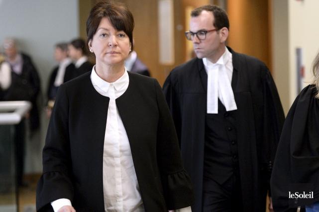 L'avocat de Nathalie Normandeau, Me Maxime Roy, tenait... (Photothèque Le Soleil, Yan Doublet)