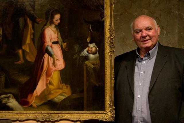 L'historienMichel Pastoureau était de passage à l'oratoire Saint-Joseph... (PHOTO FRANÇOIS ROY, LA PRESSE)