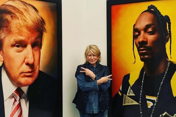 Martha Stewart a brièvement montré ce qu'elle pense de son ancien rival de la... (PHOTO TIRÉE D'INSTAGRAM)