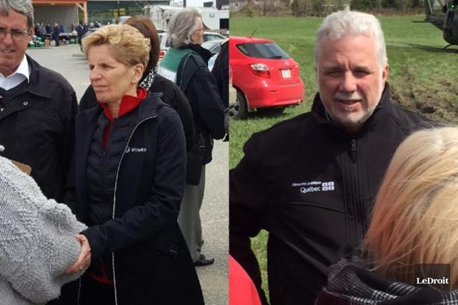 La première ministre de l'Ontario, Kathleen Wynne et... (Le Droit)