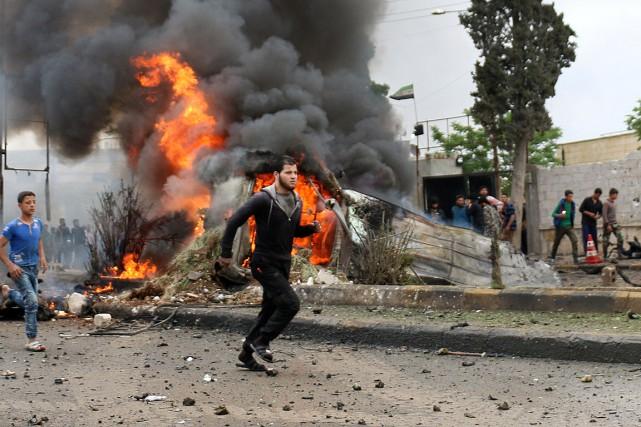 L'explosion d'une voiture piégée a eu lieu dans... (PHOTO Zein Al RIFAI, ARCHIVES AGENCE FRANCE-PRESSE)