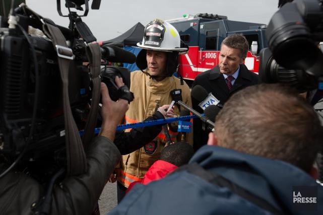 Le directeur du Service incendie de Montréal, Bruno... (PHOTO NINON PEDNAULT, LA PRESSE)