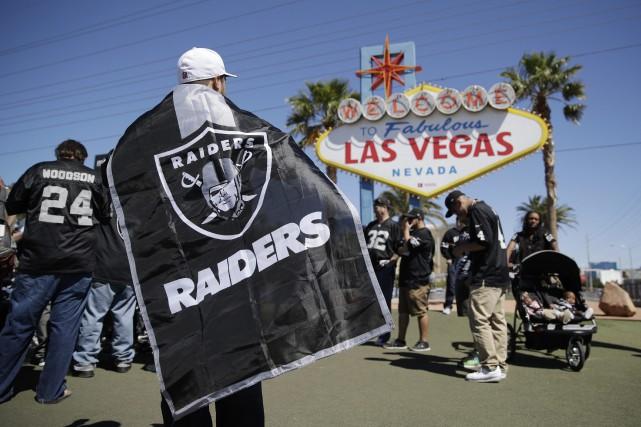 Le nouveau domicile des Raiders de Las Vegas... (Photo John Locher, AP)
