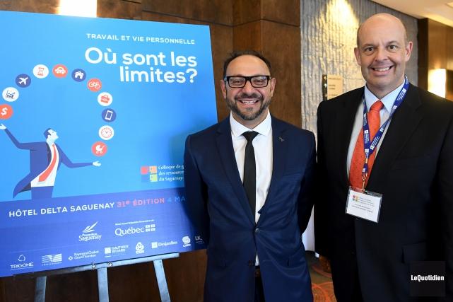 Le psychologue et conférencier Amir Georges Sabongui et... (Photo Le Quotidien, Rocket Lavoie)