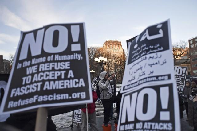 Le décret migratoire de l'administration Trumpavait provoqué une... (AFP, Eric Baradat)