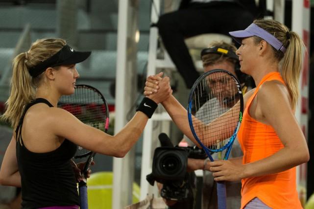 Maria Sharapova (à droite) s'est inclinée face à... (Sergio Perez, Reuters)