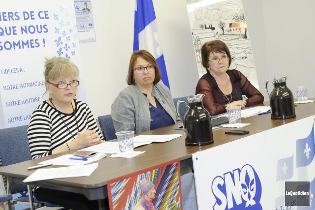 La présidente de la SNQ, France Gagnon, la... (Photo Le Quotidien, Gimmy Desbiens)