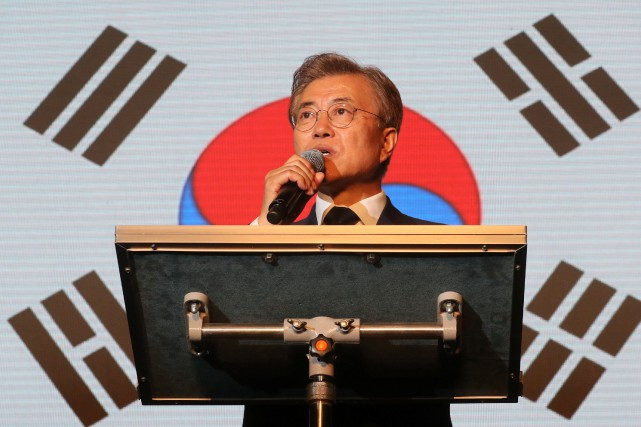 Le nouveau président sud-coréen, Moon Jae-In... (Photo Seo Myeong-gon, Photo Reuters/Agence Yonhap)
