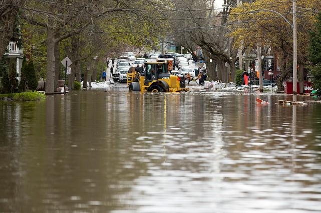 La rue Cousineau, dans Cartierville à Montréal, est... (La Presse photo FRANCOIS ROY / L)