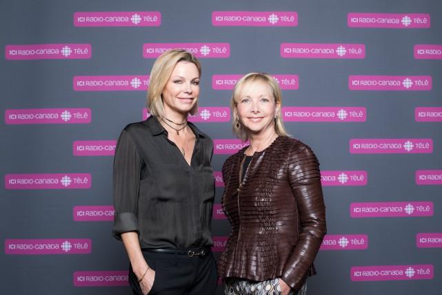Caroline Néron et Christiane Germain, les deux nouvelles... (Photo fournie par Radio-Canada)