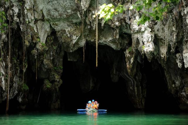 Le Parc national de la rivière souterraine de... (PHOTO AFP)