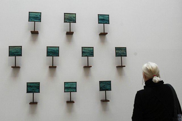 L'installation Our Naufrage de l'artiste Hajra Waheed... (PHOTO AFP)