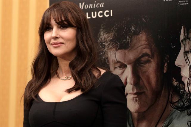 Monica Bellucci à Rome, pour parler du film... (AP, Gregorio Borgia)