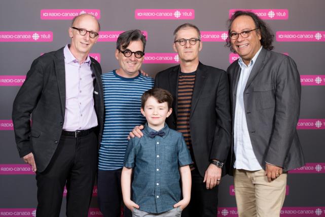 André Dupuy, Serge Boucher, Anthony Bouchard (le petit... (ICI Radio-Canada Télé)