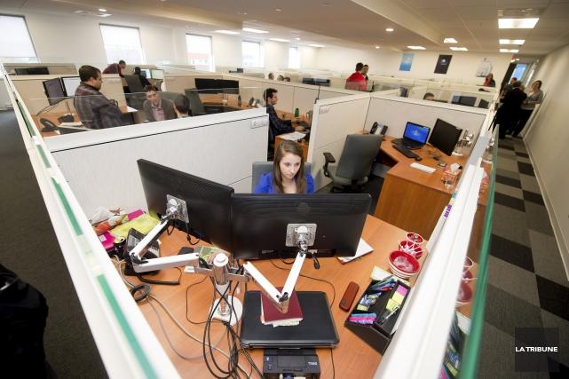 En pleine expansion, l'entreprise sherbrookoise SherWeb ouvrira un... (Archives, La Tribune)