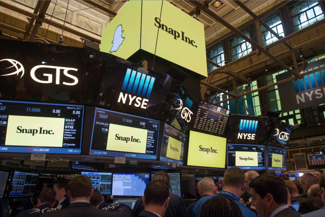 Snap, la société derrière l'application Snapchat si populaire auprès des... (AFP, Bryan R. Smith)