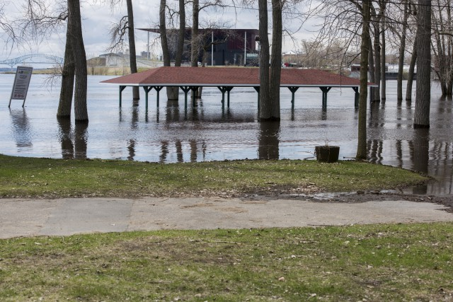 L'eau est anormalement élevée à l'île Saint-Quentin, comme... (François Gervais)