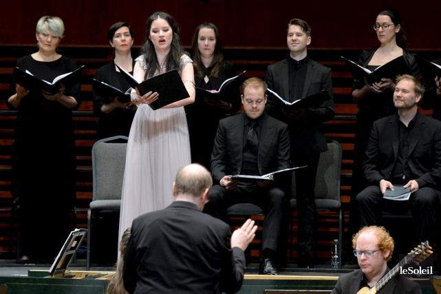La soprano Anna Porhaska, le ténor Andrew Staples... (Le Soleil Erick Labbé)
