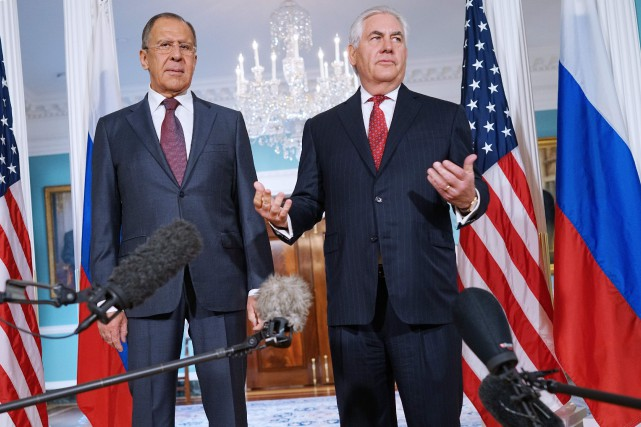 Sergueï Lavrov s'est entretenu mercredi à Washington avec... (AFP)