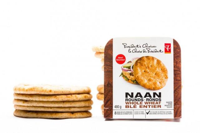 Pains naans ronds de blé entier,2,99$ pour 16pains... (Photo Edouard Plante-Fréchette, La Presse)