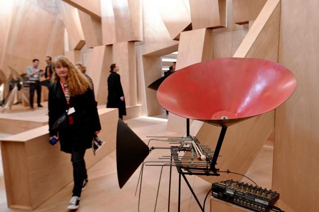 Sous le titre, «studio Venezia», les commissaires Lionel... (PHOTO AFP)