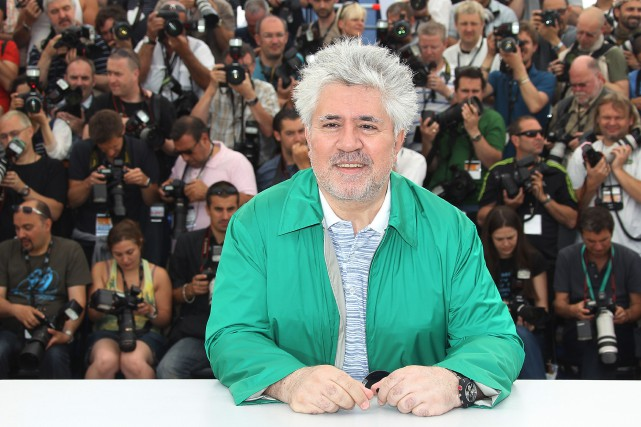 Pedro Almodovar lors de la présentation du film... (PHOTO ARCHIVES AFP)