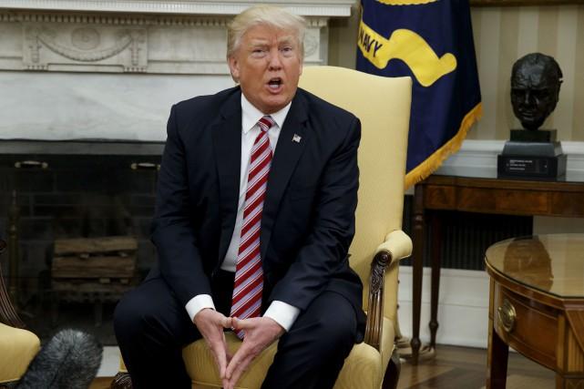 Le président américain Donald Trump... (Archives AP, Evan Vucci)