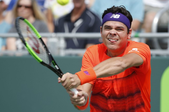 Milos Raonic... (PHOTO AP)