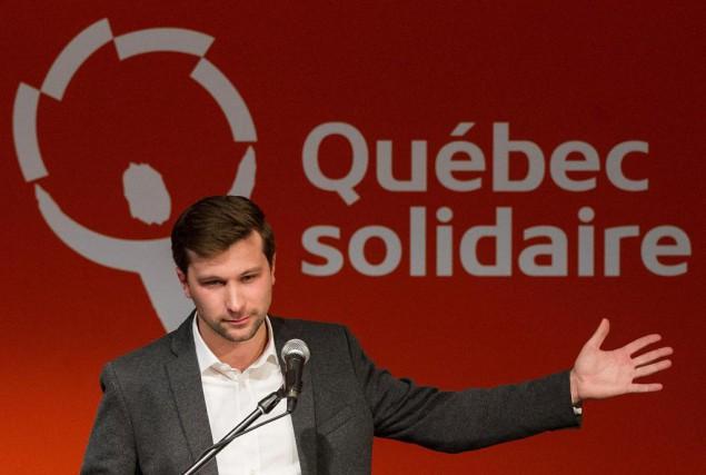 Gabriel Nadeau-Dubois est candidat de Québec solidaire pour... (Photo Graham Hughes, Archives La Presse canadienne)