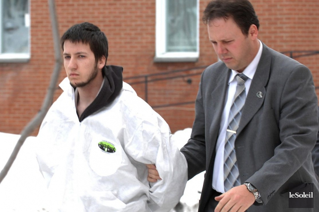 Toby Carrier lors de son arrestation en avril... (Photothèque Le Soleil)