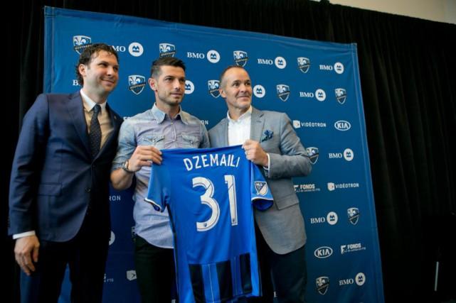 Blerim Dzemaili est prêté par le Bologne FC... (PHOTO DAVID BOILY, LA PRESSE)