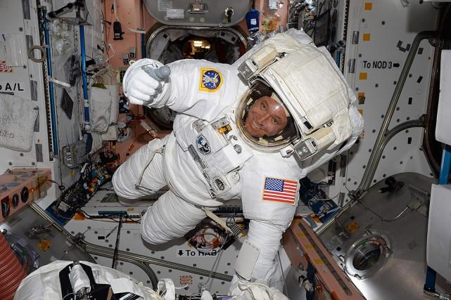 Jack Fischer, peu avant sa sortie dans l'espace.... (NASA via AFP)