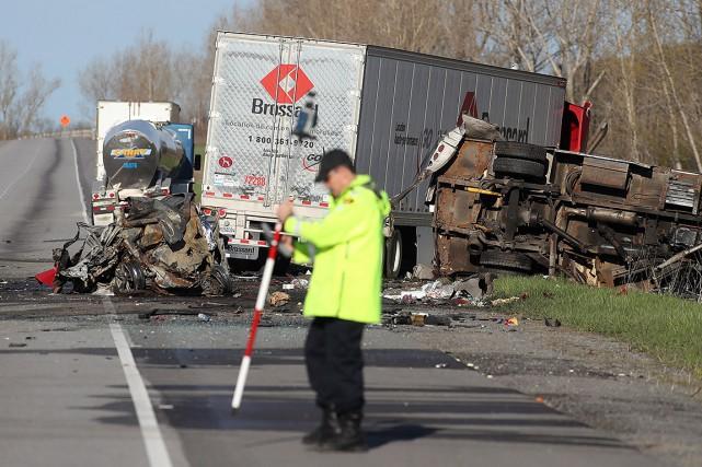 Selon la police, le camionneur Dunhill Tabano, de... (Lars Hagberg, PC)