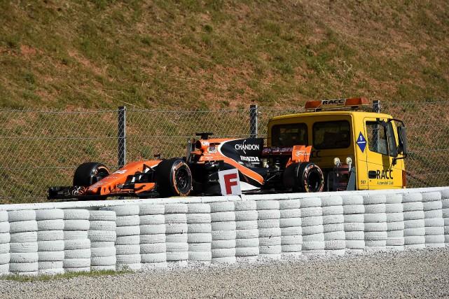 La première séance d'essais a encore été calamiteuse... (photo AFP)