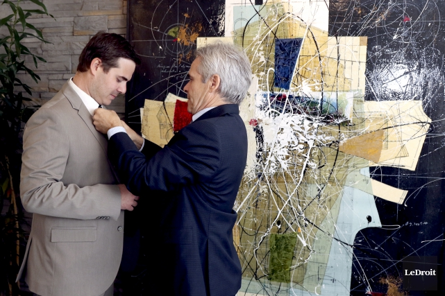 Philippe et Raymond Pratte.... (Photo Le Droit, Patrick Woodbury)