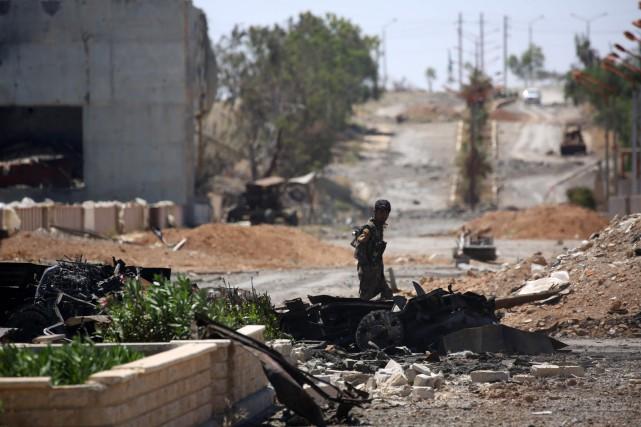 Ces djihadistes «n'avaient pas noué d'accord avec nous»,... (Photo DELIL SOULEIMAN, AFP)