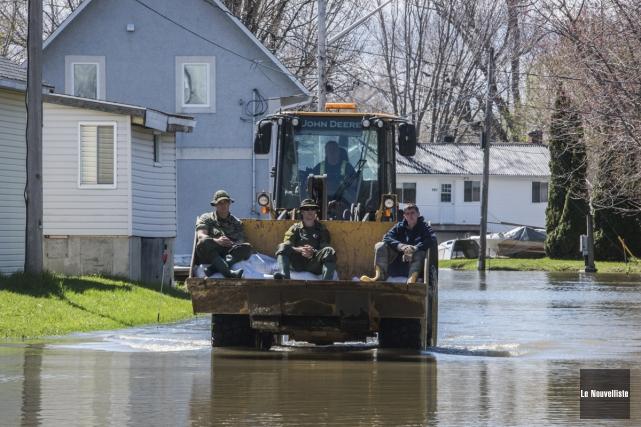 Les municipalités ne peuvent prévenir les inondations. Un... (François Gervais, Le Nouvelliste)