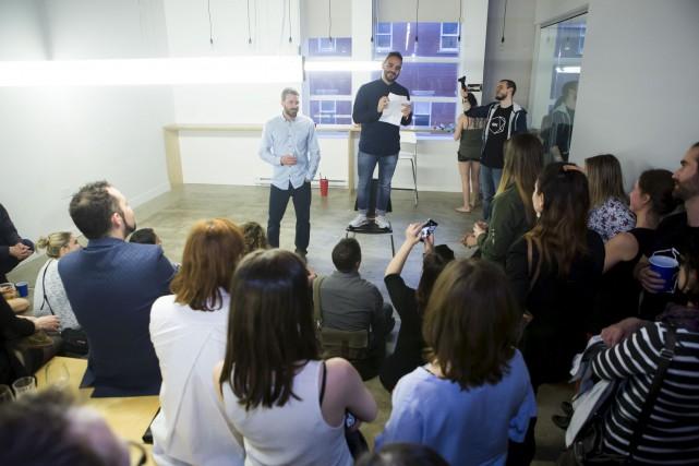 George Saad a présenté son outil SPK devant... (Courtoisie Philippe Ruel)