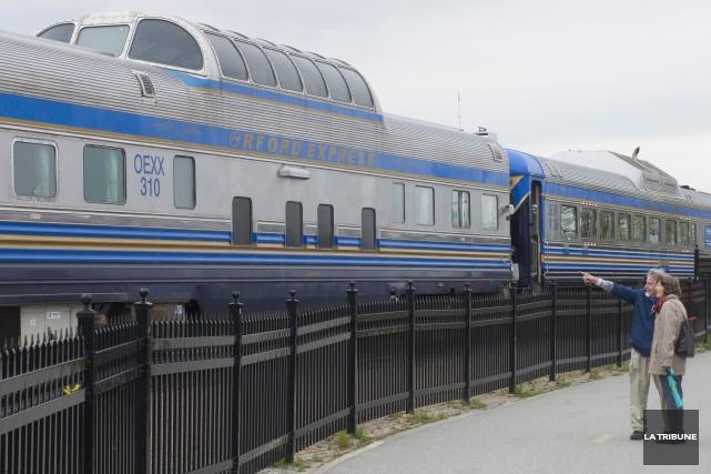 Le train Orford Express entame sa deuxième saison... (Archives, La Tribune)