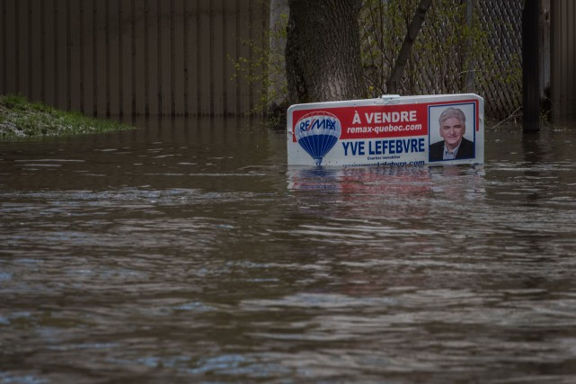 Le niveau du lac Saint-Pierre a continué de... (François Gervais)