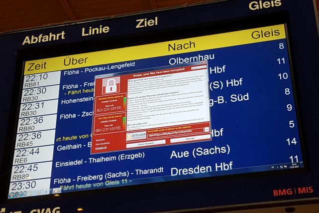 Le réseau ferroviaire nationale allemand, a été affecté,... (AP, P. Goezelt)