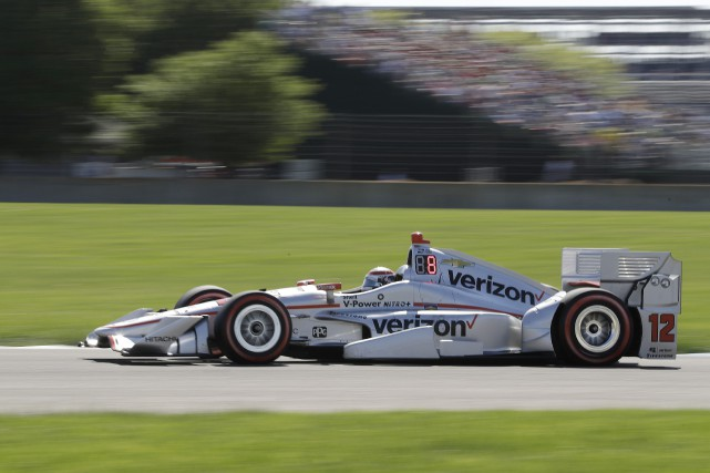 Will Power au volant de sa Penske... (PHOTO Darron Cummings, AP)